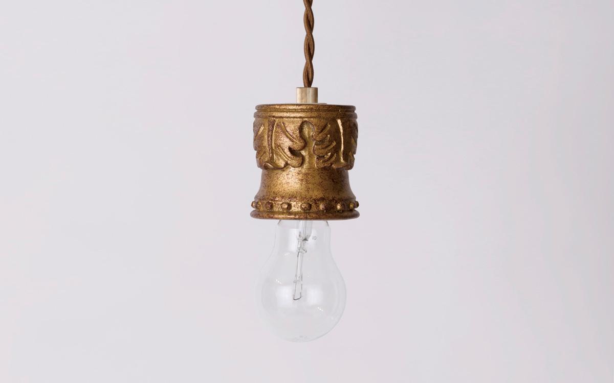 パルテノンゴールドペンダントタイプのランプシェード