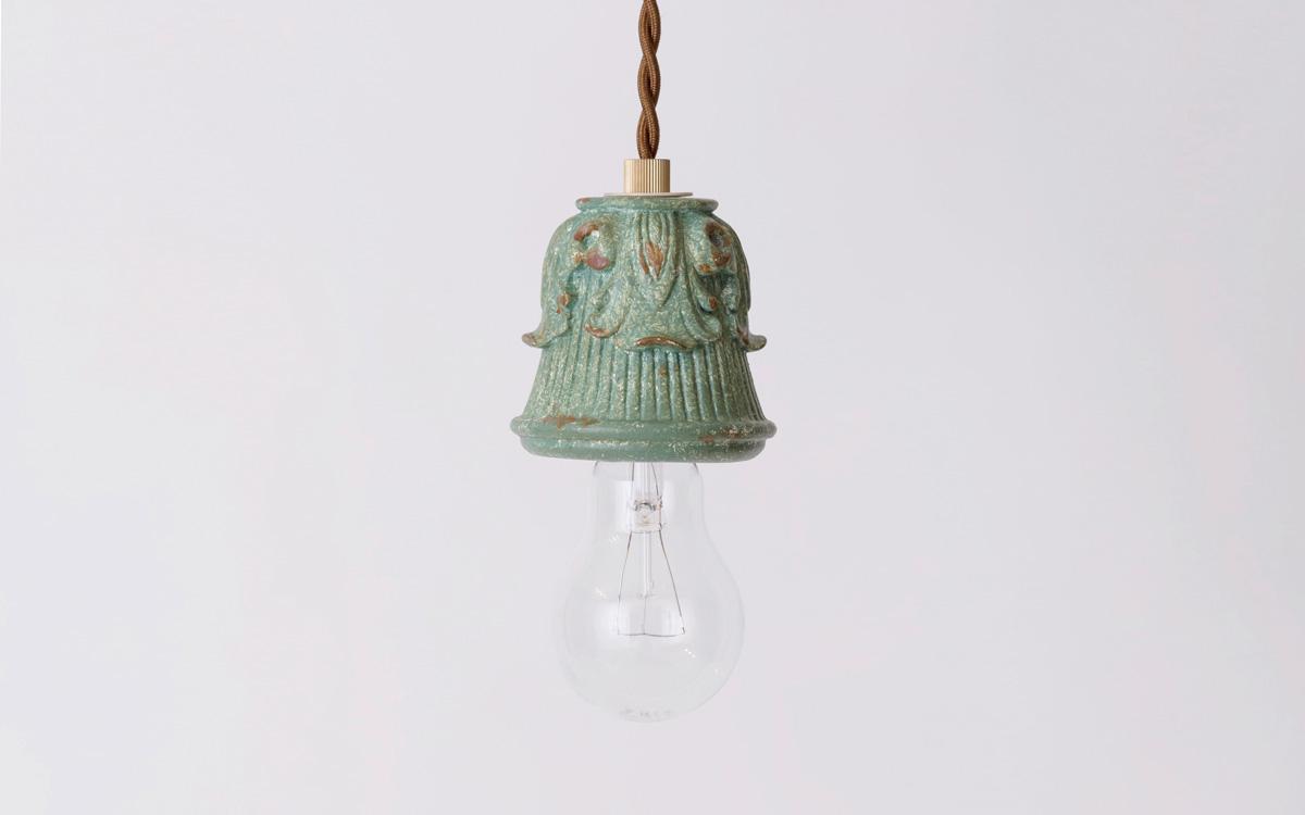 パルテノングリーンペンダントタイプのランプシェード