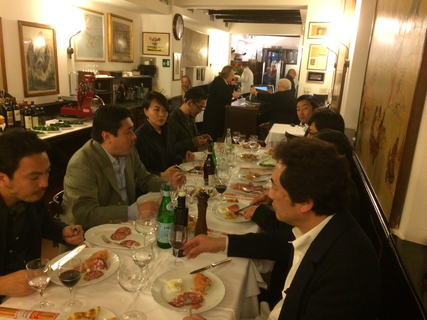 ミラノでの食事会