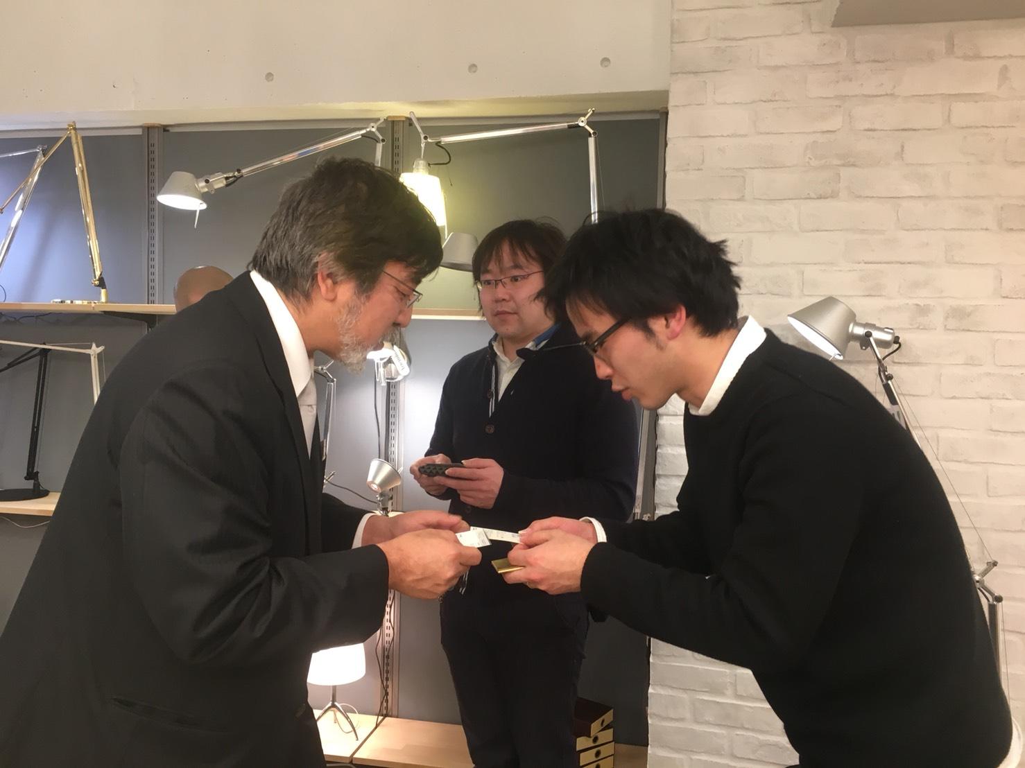 黒澤社長と名刺交換