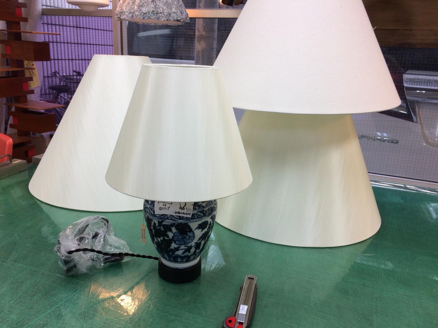 壺のランプシェード