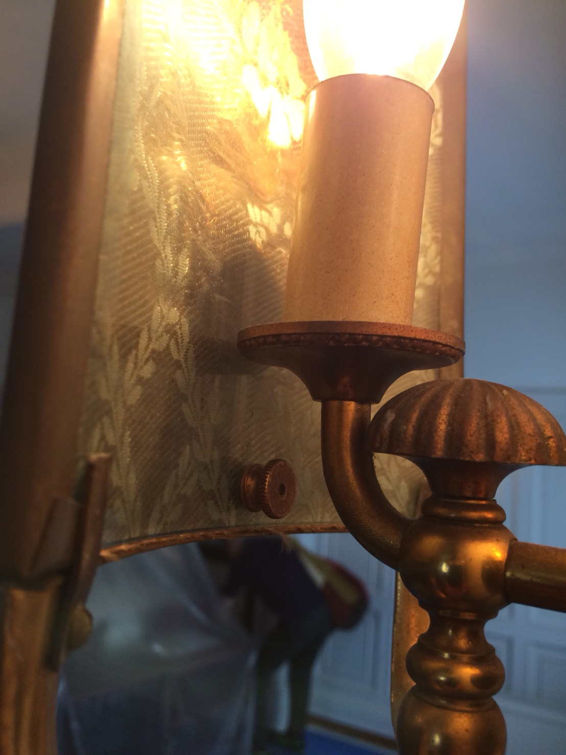 ランプシェード張り替え  ブラケット
