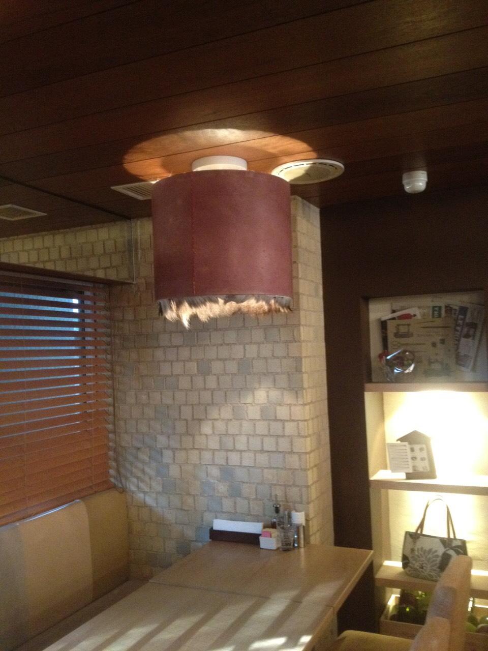 鹿革ランプシェード